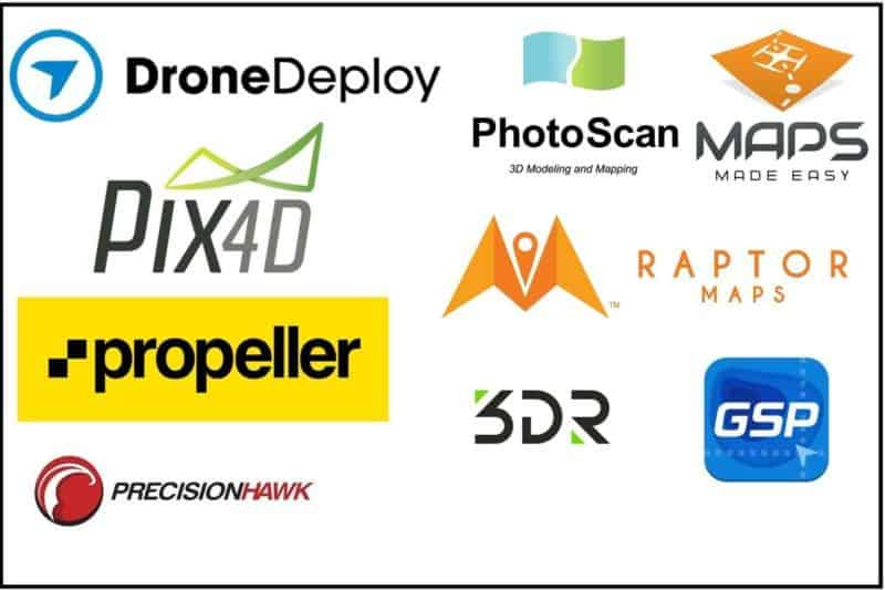 UAV and drone mapping apps for surveying