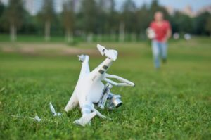 Drone Crash requiring drone insurance. UAV insurance after a crash.