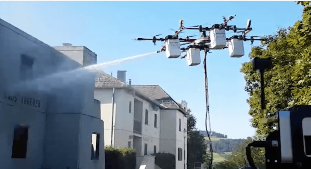 Uses for drones, firefighting drone